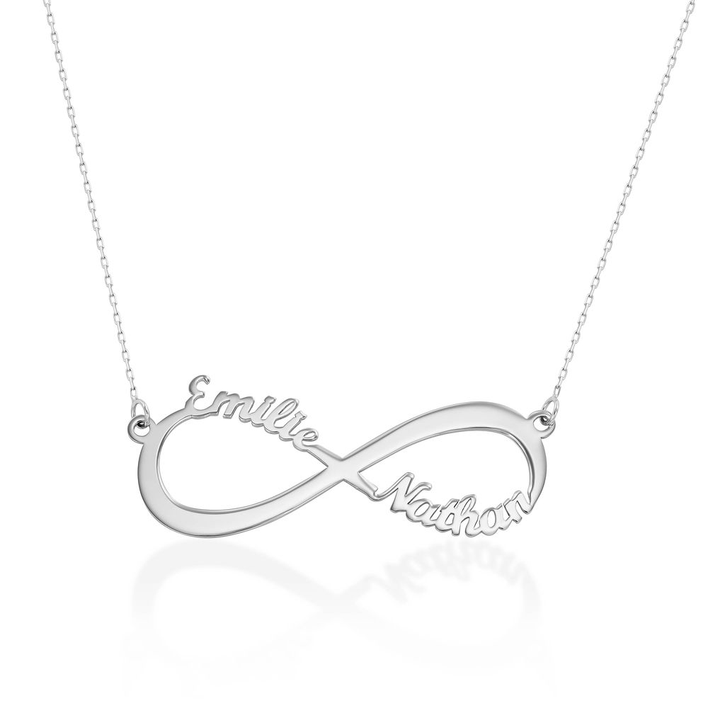 Infinity Name Necklace in 10K White Gold