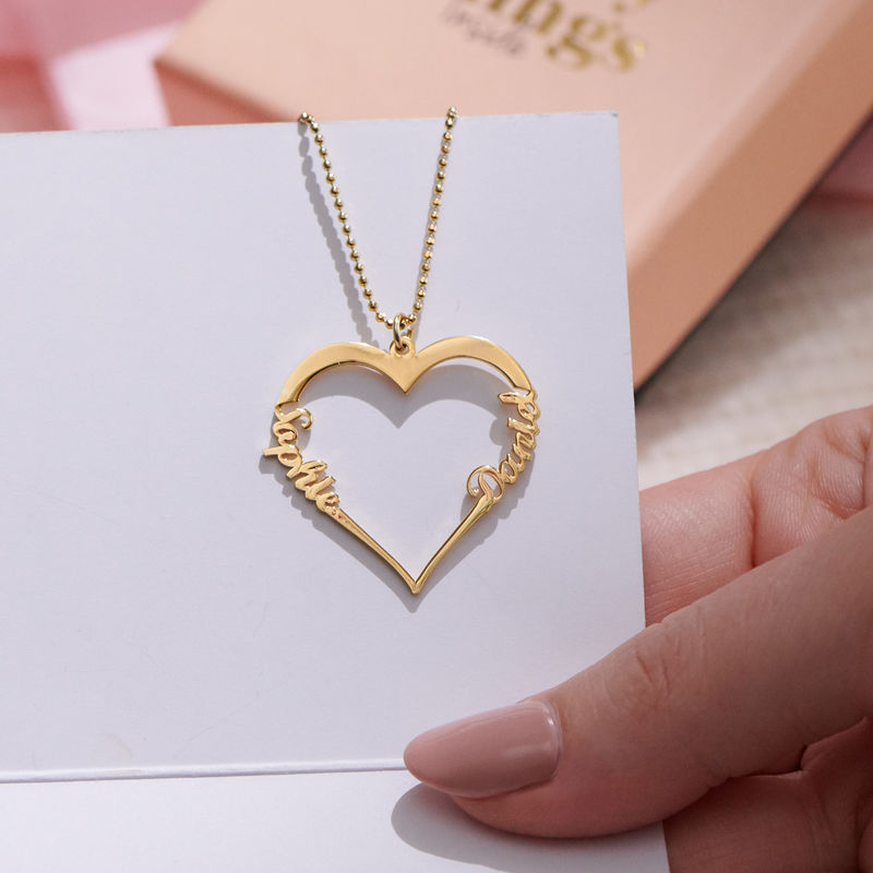 18k Gold Plated Heart Necklace - 1