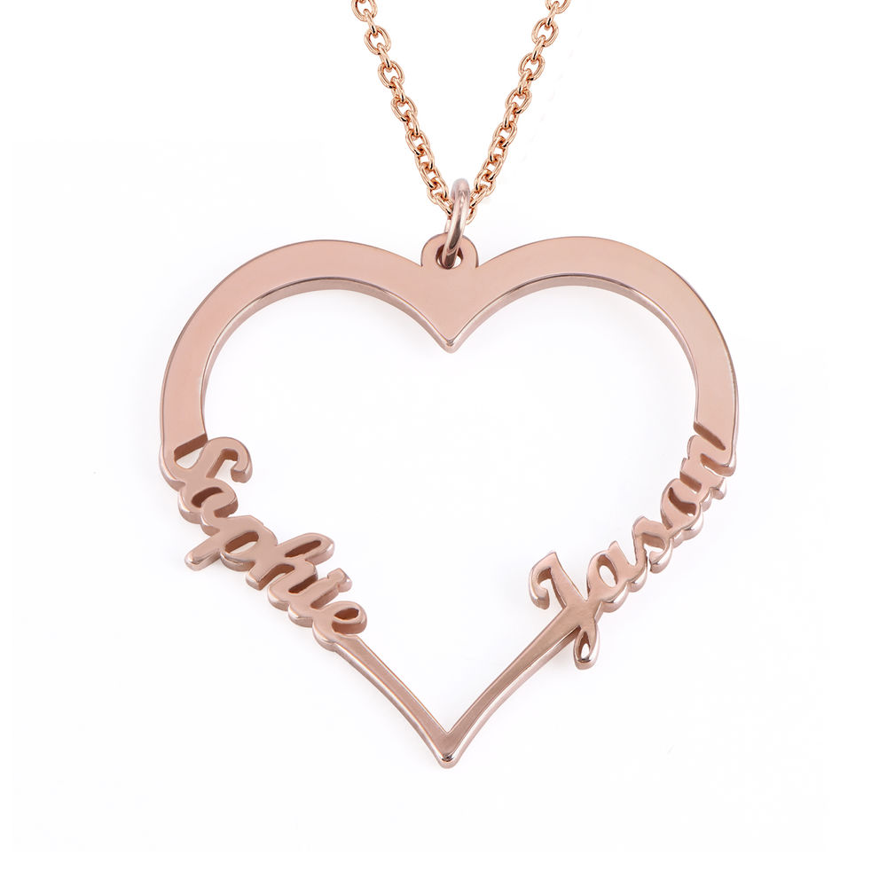18k Rose Gold Plated Heart Necklace