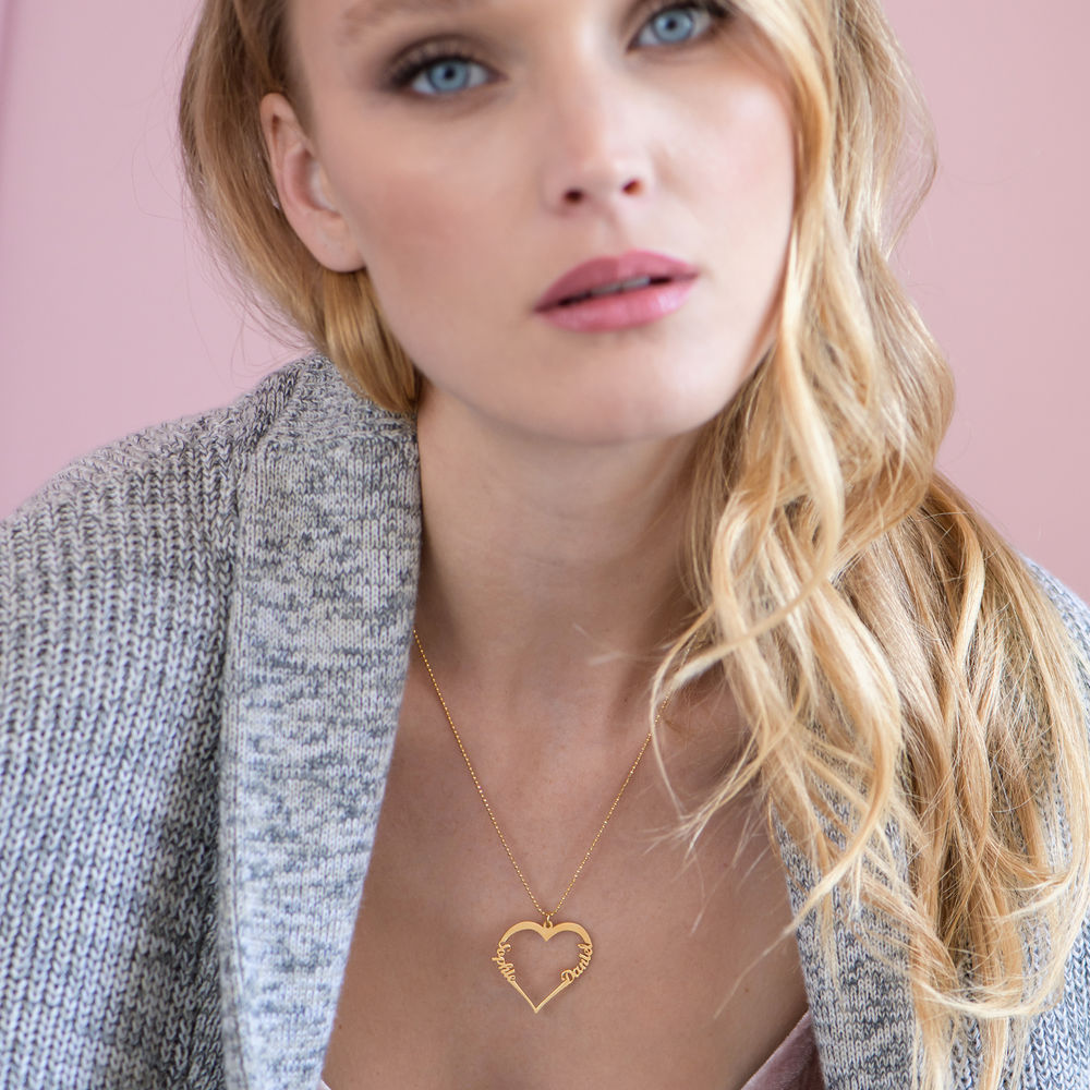 18k Gold Vermeil Heart Necklace - 1