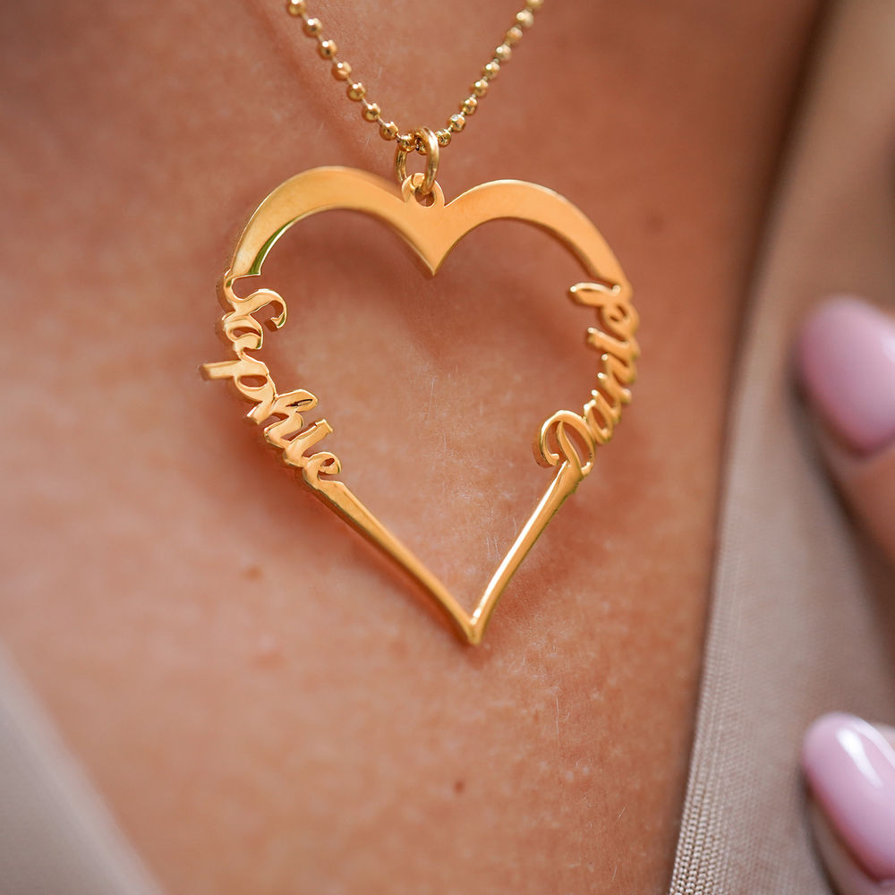 18k Gold Vermeil Heart Necklace - 2