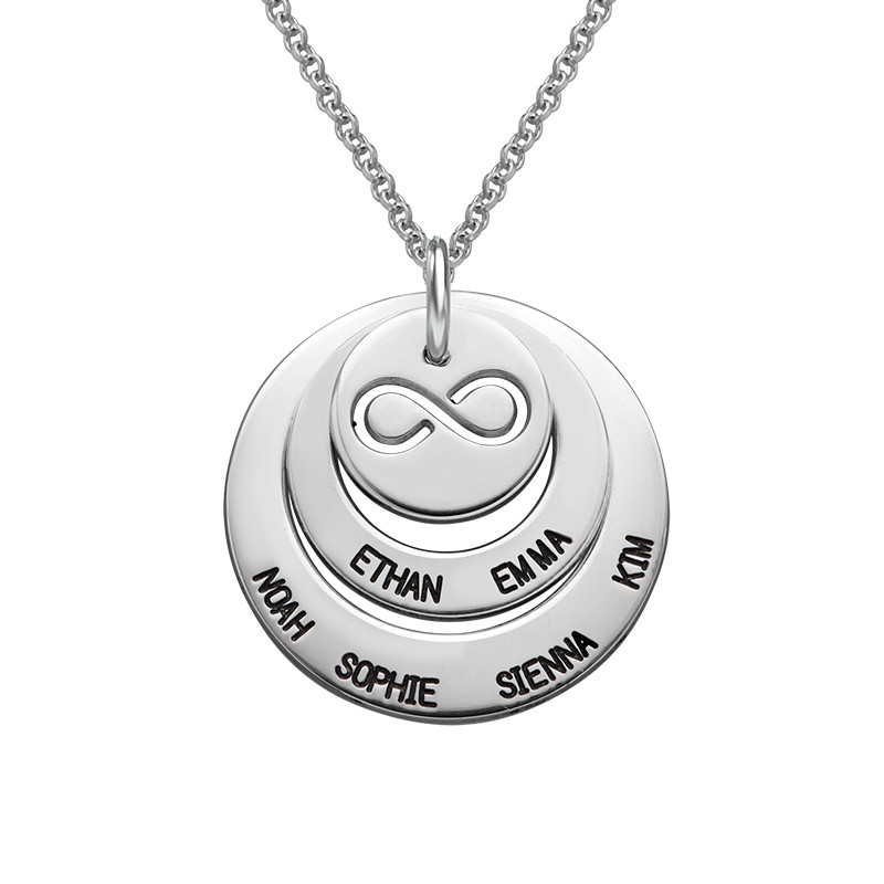 Personalized Family Necklace with Infinity Symbol
