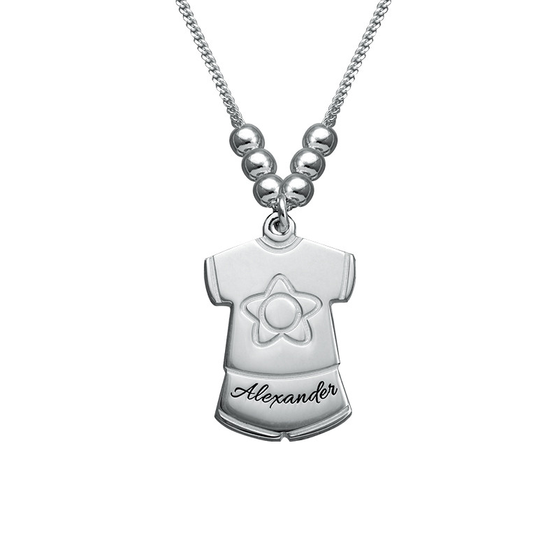 Mother Necklace with Kids Outfits Charms - 1