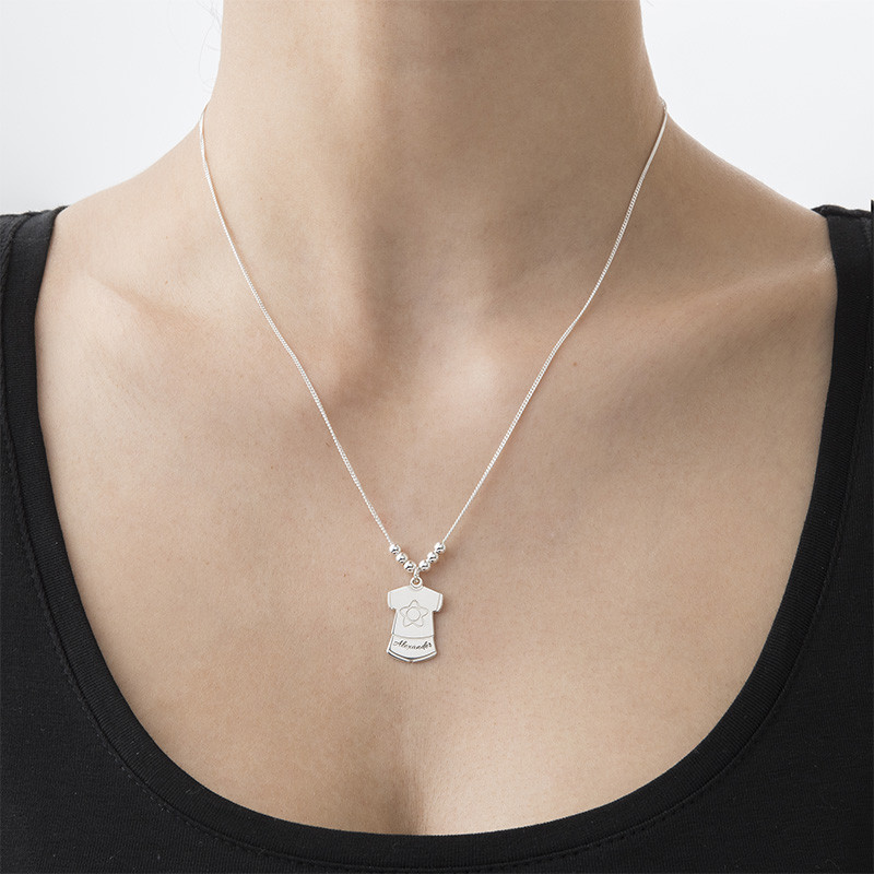 Mother Necklace with Kids Outfits Charms - 2