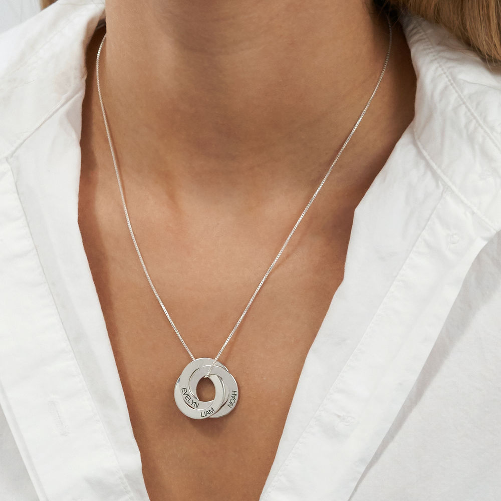 Russian Ring Necklace in Sterling Silver - 3