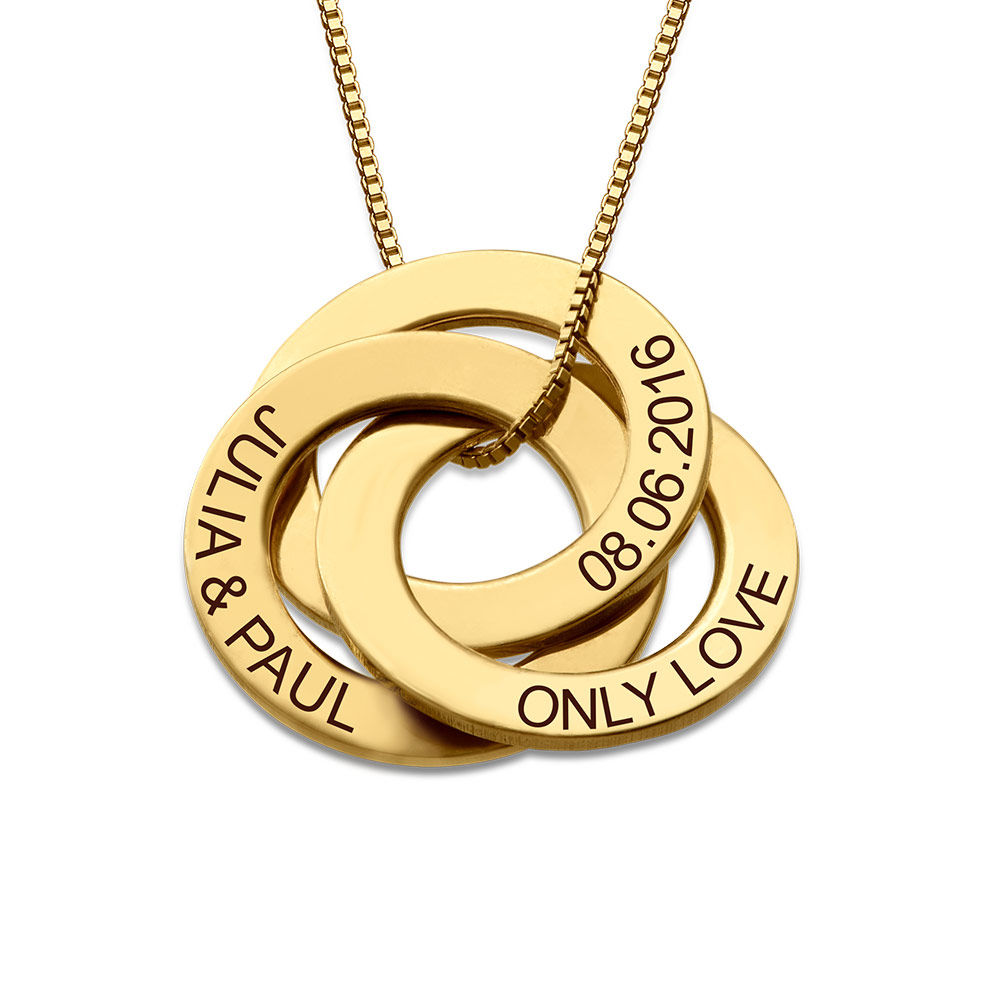 Russian Ring Necklace in Gold Plating - 1