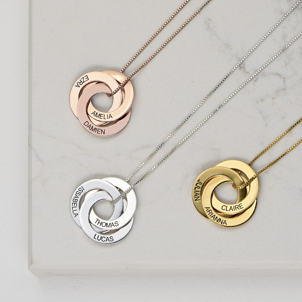 Russian Ring Necklace in Gold Plating - 2