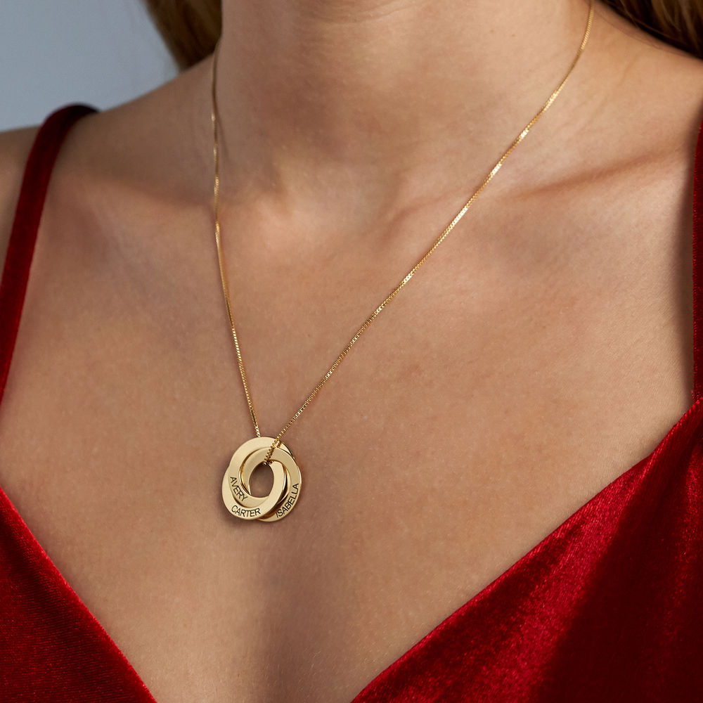 Russian Ring Necklace in Gold Plating - 4