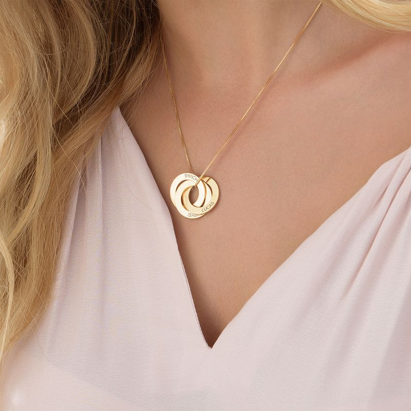 Russian Ring Necklace in Gold Vermeil - 4