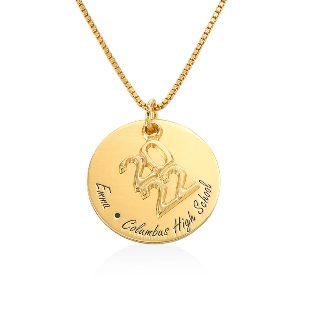 Engraved Graduation Necklace in Gold Plating