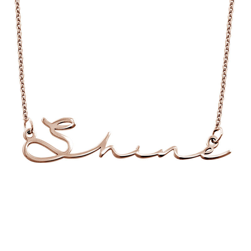 Signature Style Name Necklace in Rose Gold Plated - 1