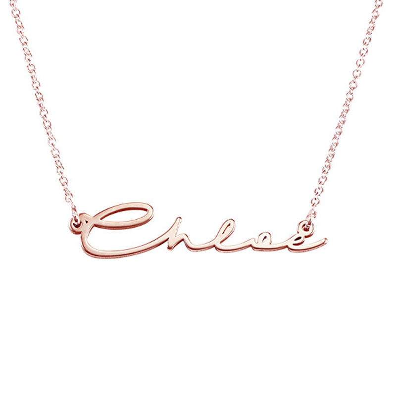 Signature Style Name Necklace in Rose Gold Plated - 3