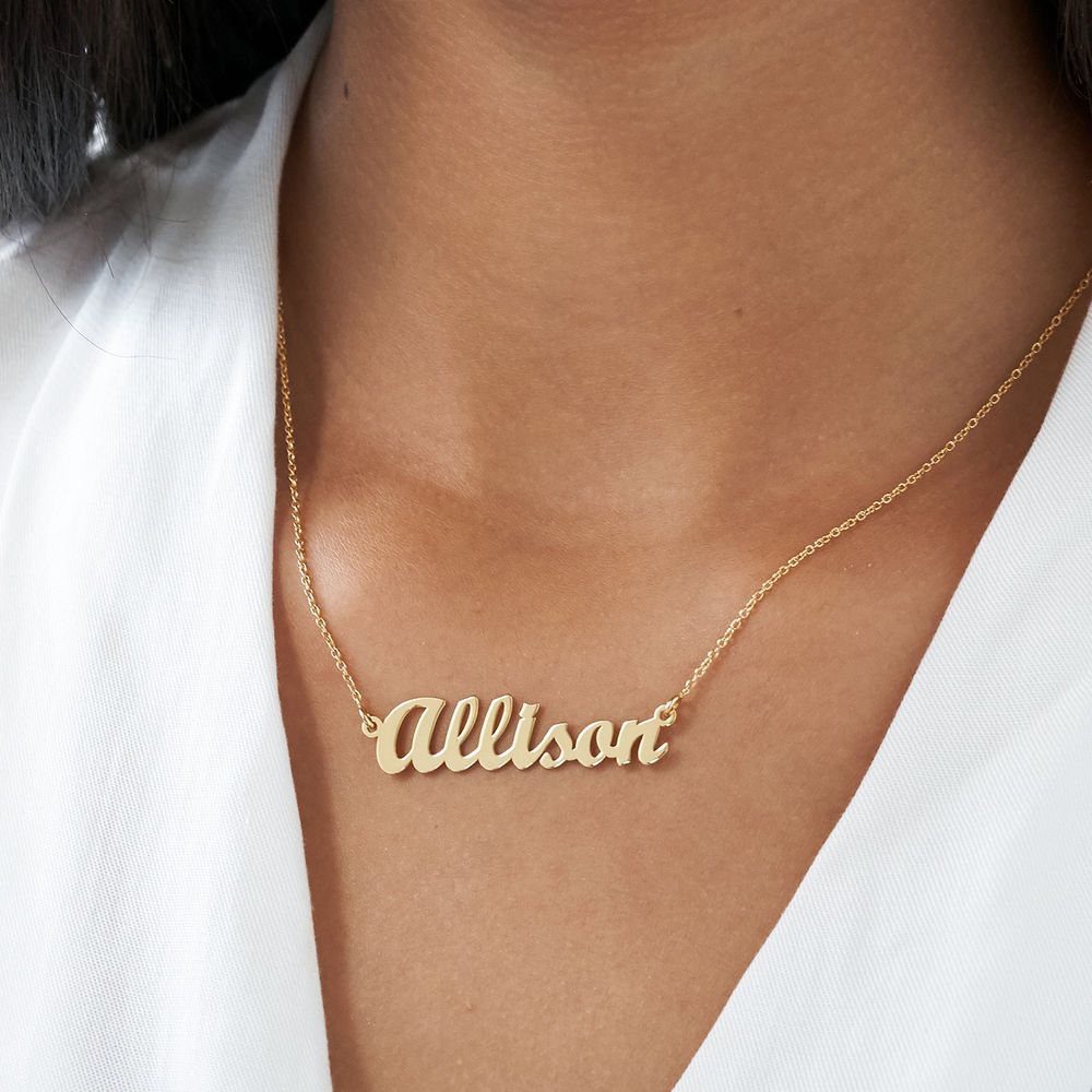 Small Vermeil Classic Name Necklace - 3