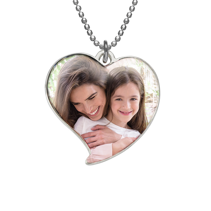 Heart photo necklace in Sterling Silver