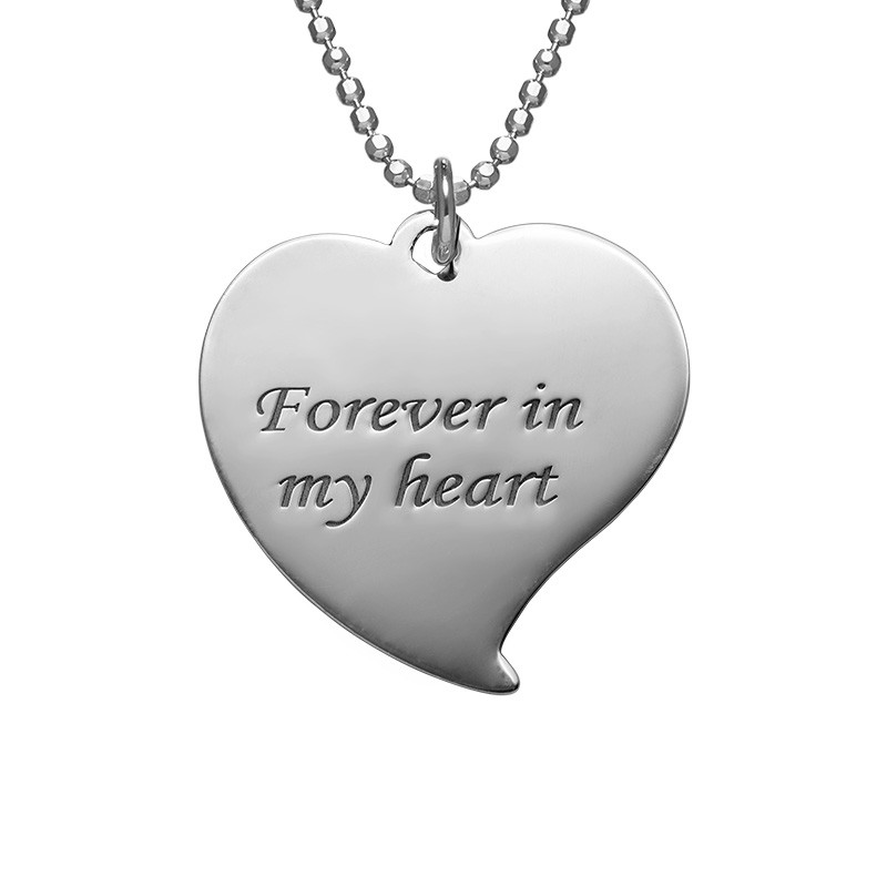 Heart photo necklace in Sterling Silver - 2
