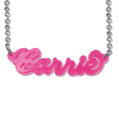 Classic Carrie-Style Color Name Necklace