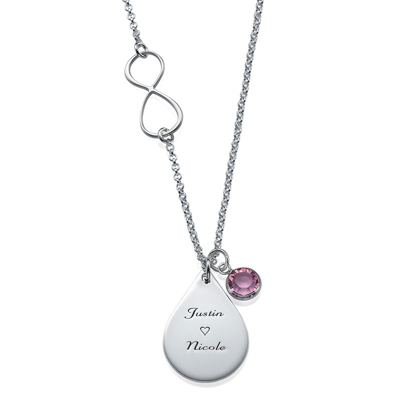 Infinity Necklace with Charms