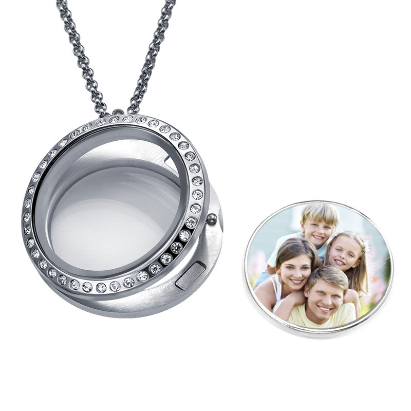 Floating Locket Photo Necklace - 1
