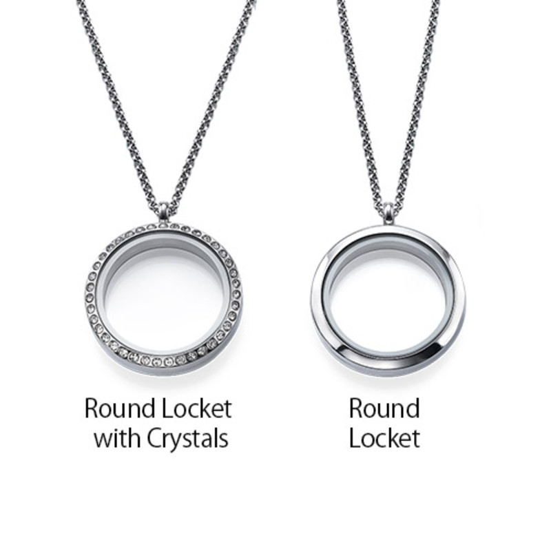 Floating Locket Photo Necklace - 2