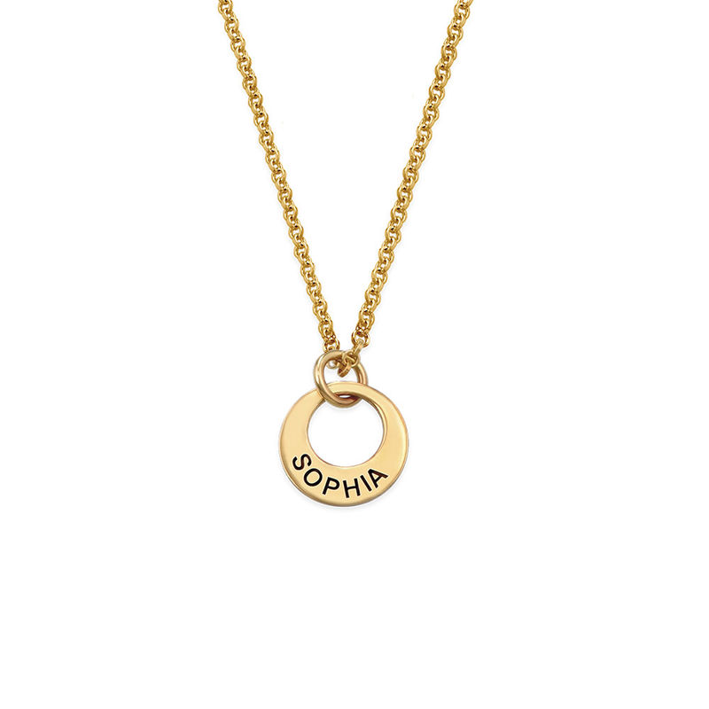 Tiny Gold Plated Mini Disc Necklace