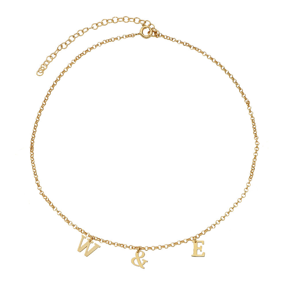 Name Choker in Vermeil - 1