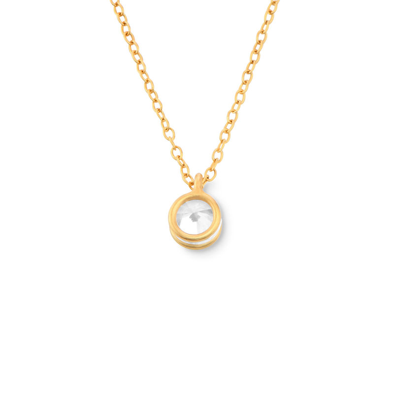 Cubic Zirconia Solitaire Necklace in Gold Plated