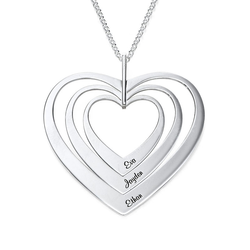 Family Hearts necklace in Sterling Silver