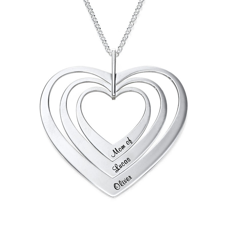 Family Hearts necklace in Sterling Silver - 1