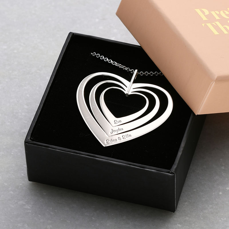 Family Hearts necklace in Sterling Silver - 4