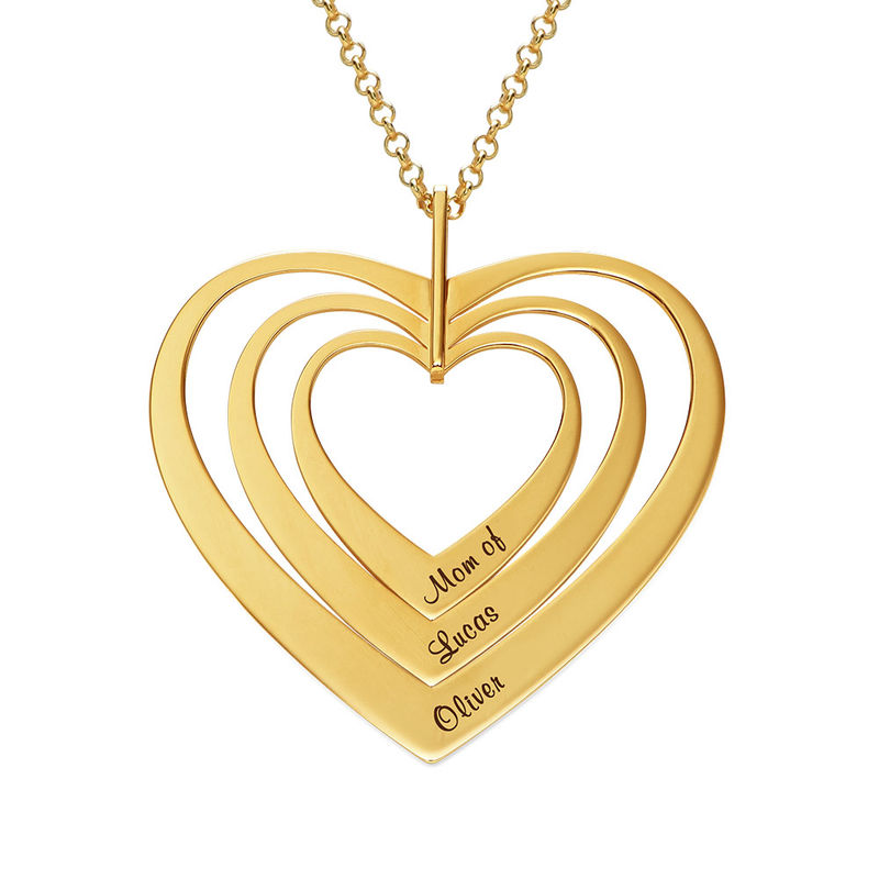 Family Hearts necklace in Gold Plating - 1