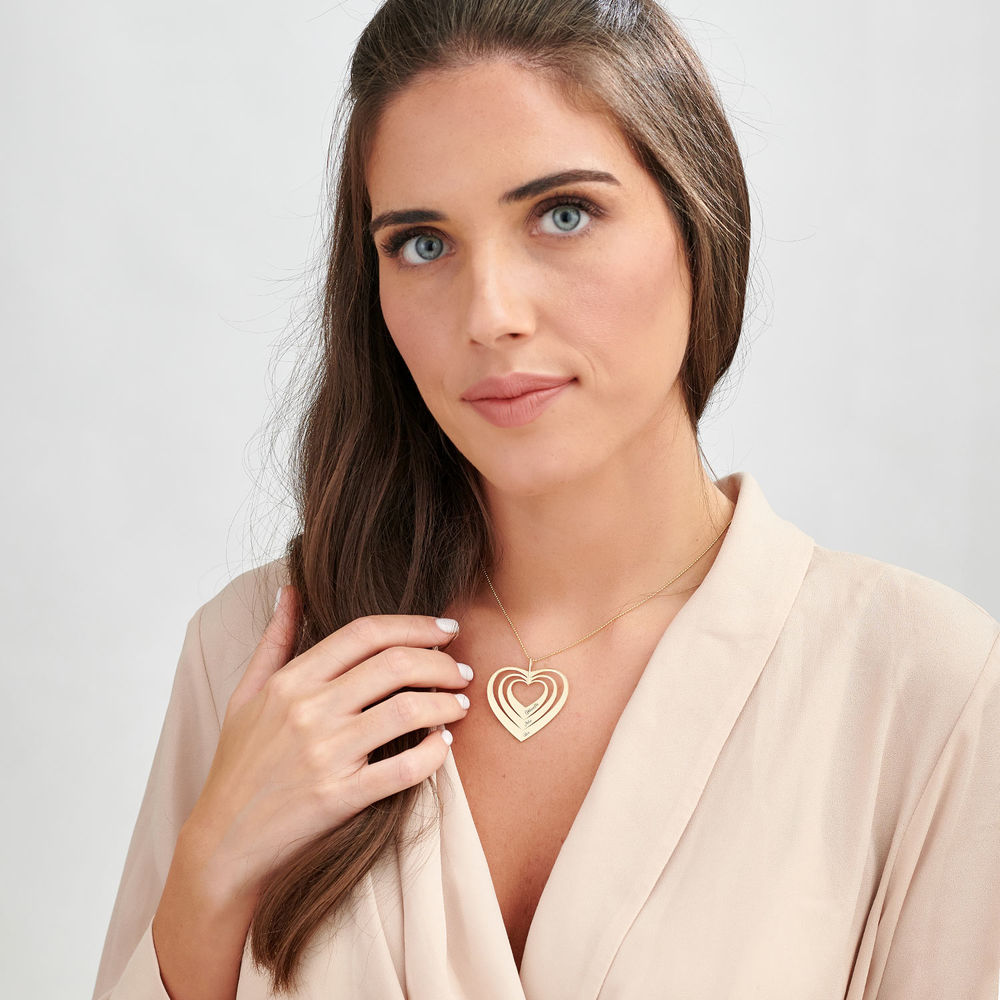 Family Hearts necklace in 10K Gold - 1