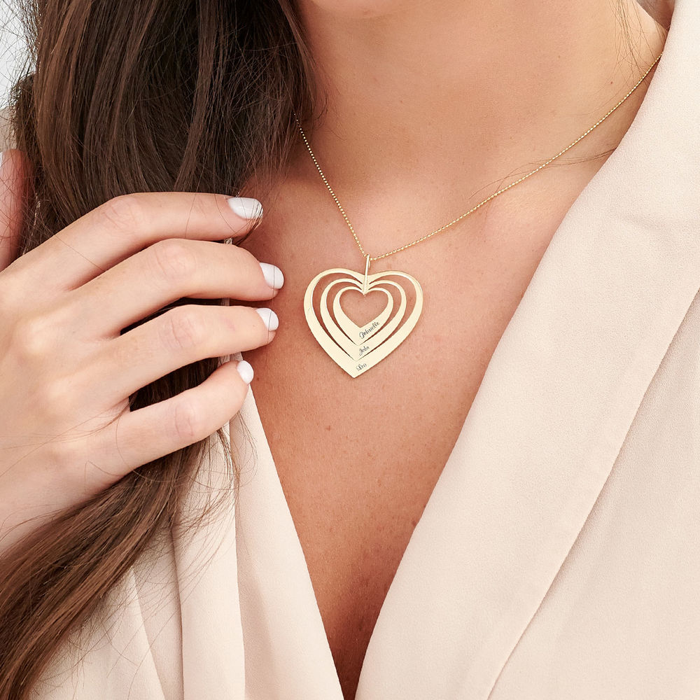 Family Hearts necklace in 10K Gold - 2