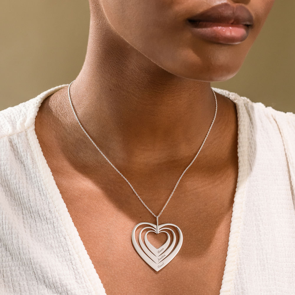 Family Hearts necklace in White Gold - 1