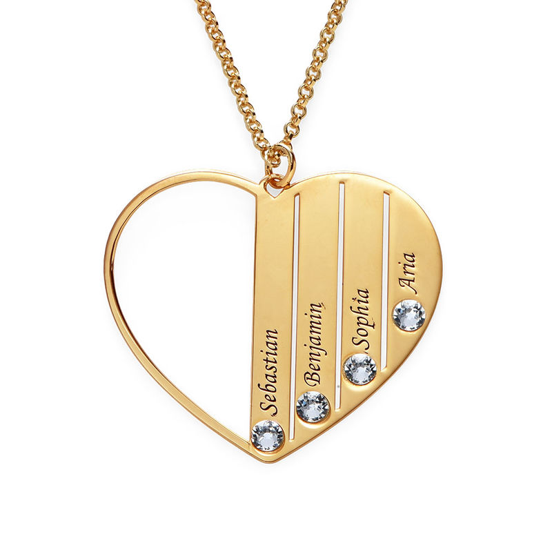 Mom Birthstone Necklace in Gold Plating - 2