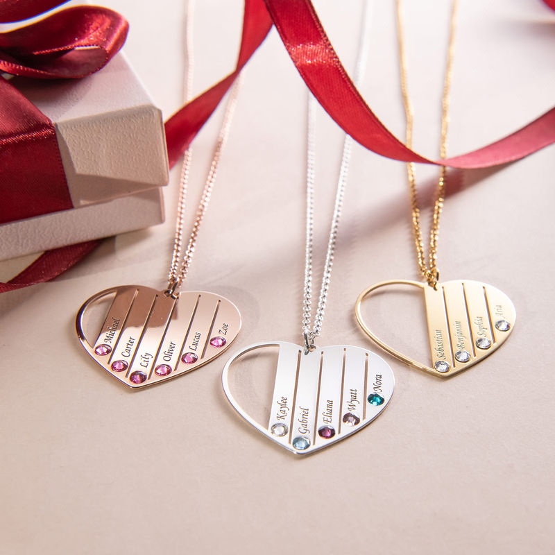 Mom Birthstone Necklace in Gold Plating - 3