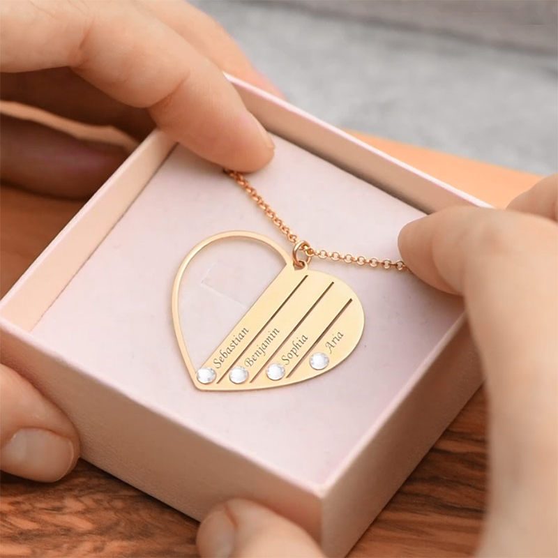 Mom Birthstone Necklace in Gold Plating - 6