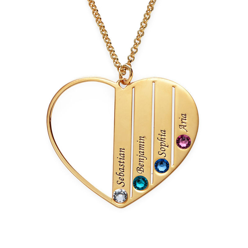 Mom Birthstone necklace in Vermeil