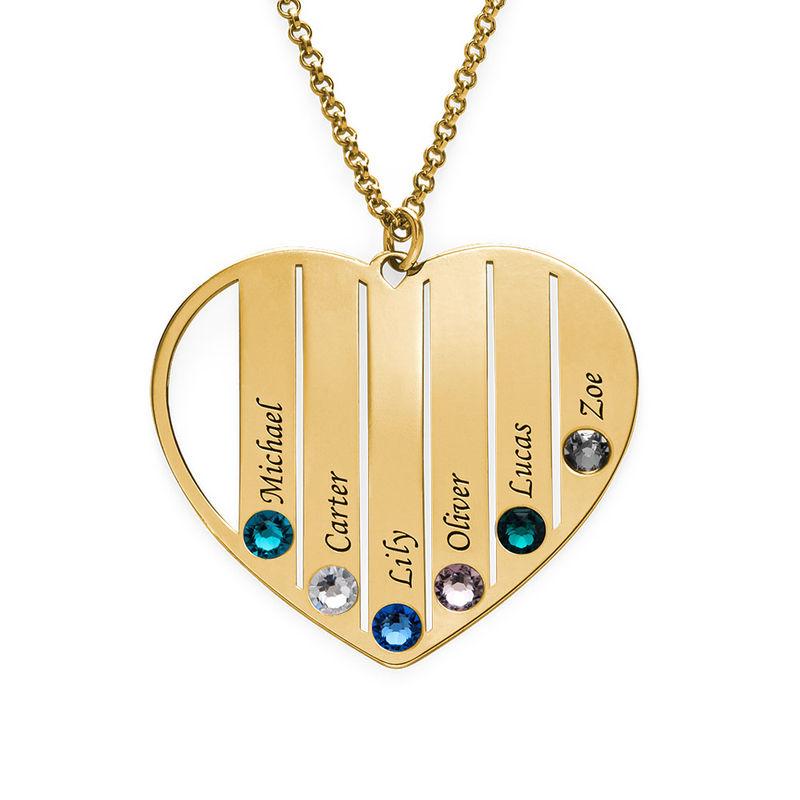 Mom Birthstone necklace in Vermeil - 1