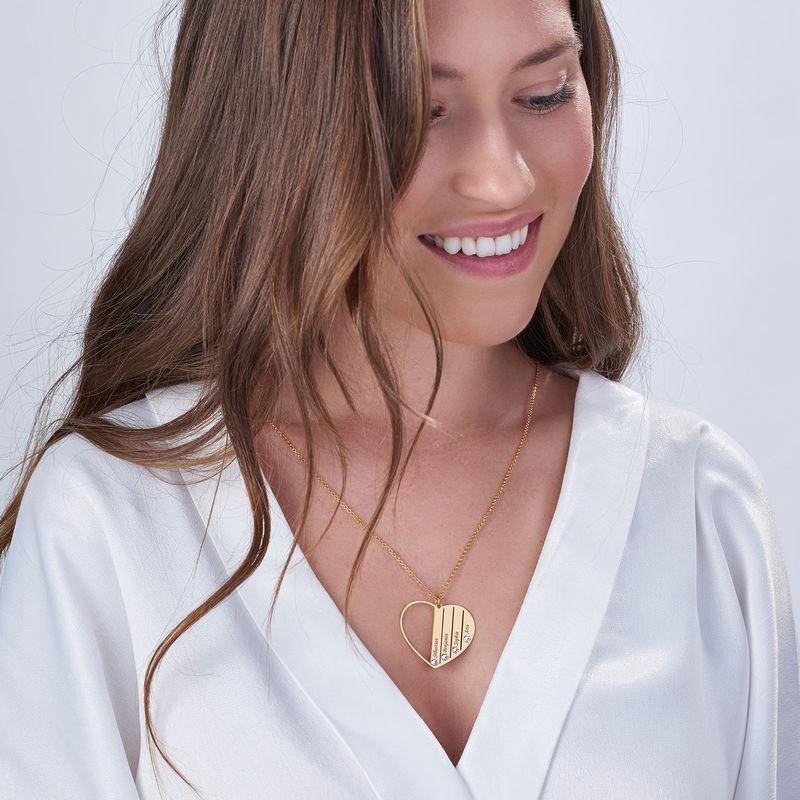 Mom Birthstone necklace in Vermeil - 4
