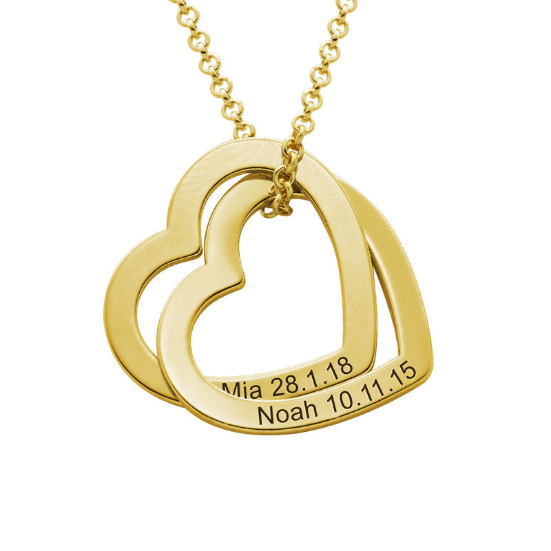 Interlocking Hearts Necklace with 18K Gold Vermeil