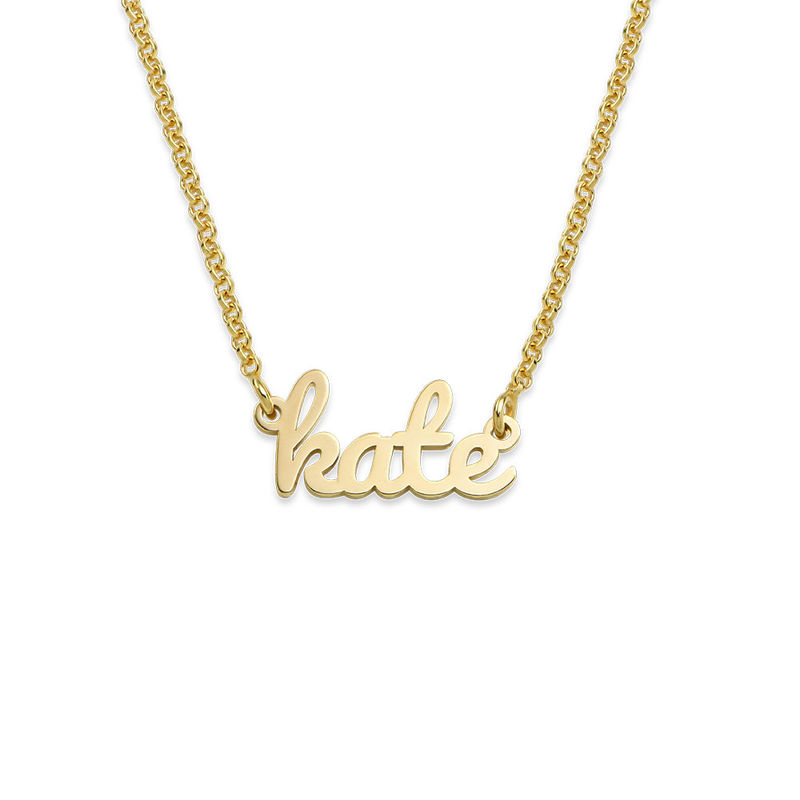 Script Name Necklace with 18K Gold Plating