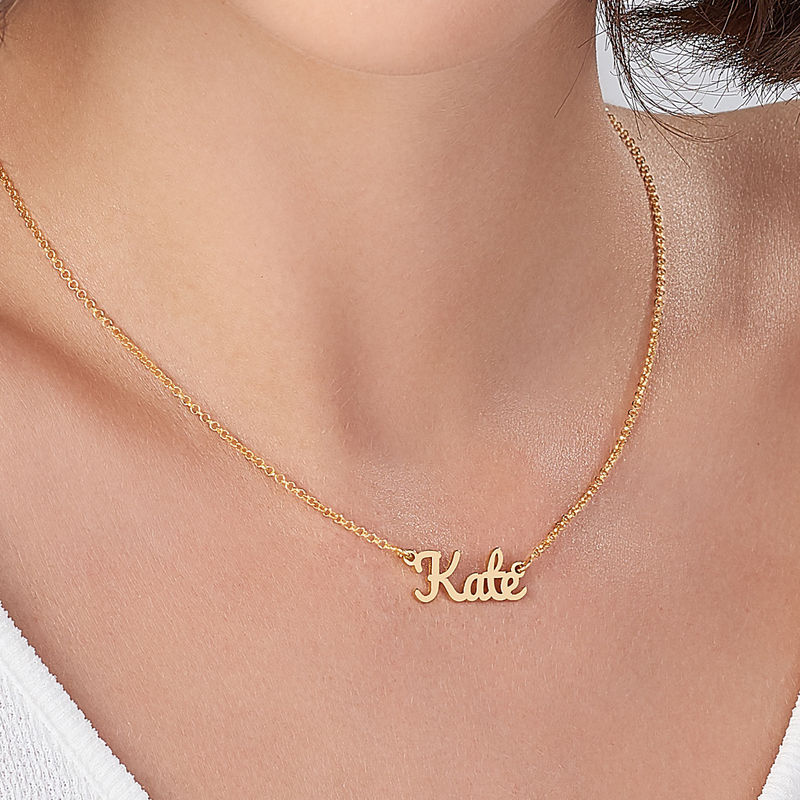 Script Name Necklace with 18K Gold Plating  - 3