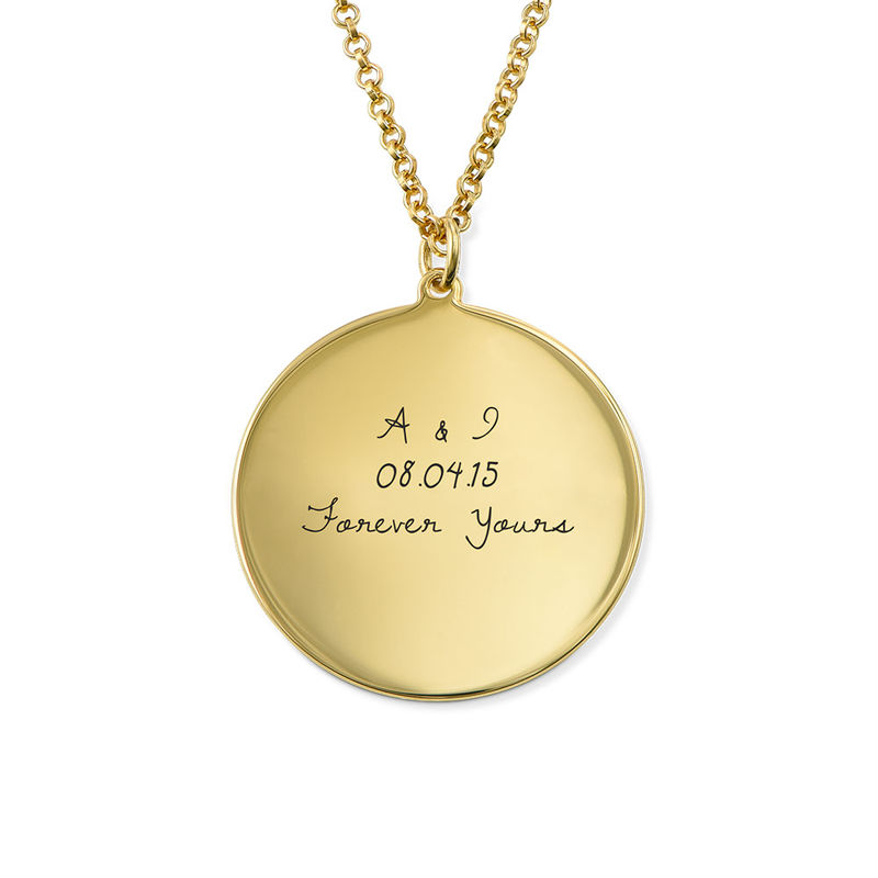 Handwritten Style Necklace in Sterling Silver with Gold Plating - 1
