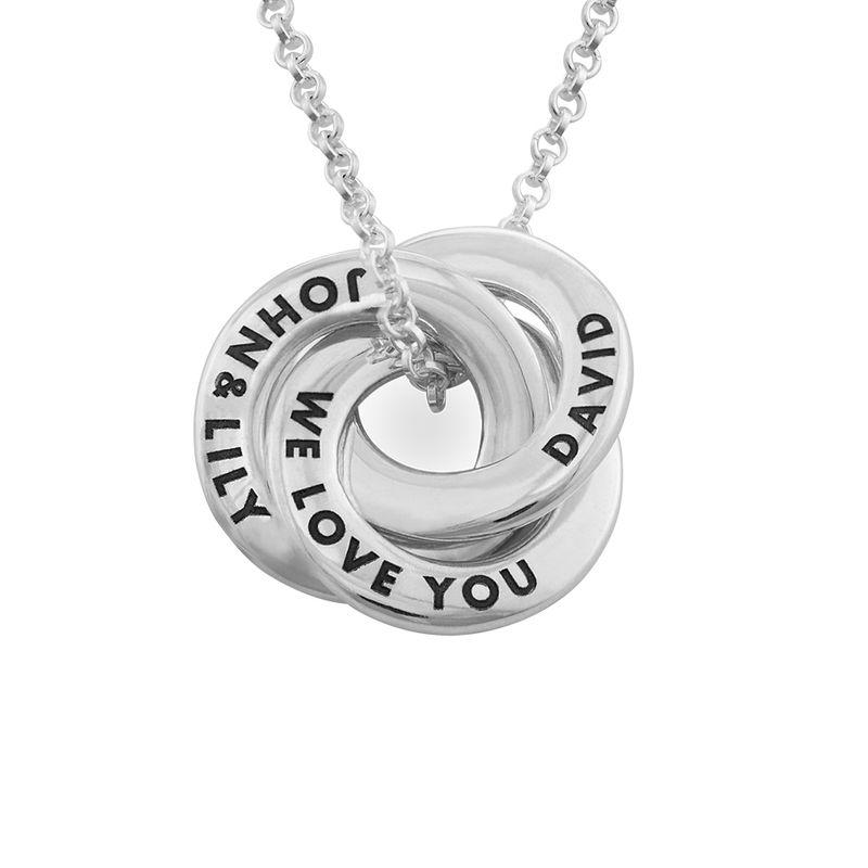 Russian Ring Necklace in Silver - Mini Design