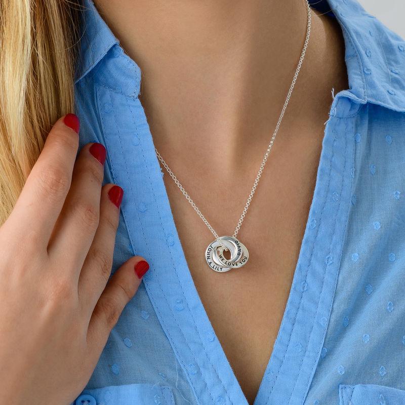 Russian Ring Necklace in Silver - Mini Design - 2