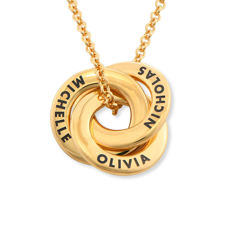 Russian Ring Necklace in Gold Plating - Mini Design