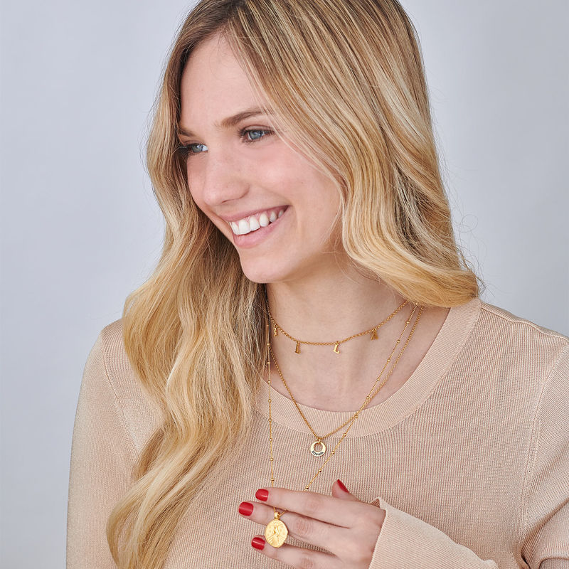 Mary Coin Necklace in Gold Plating - 3