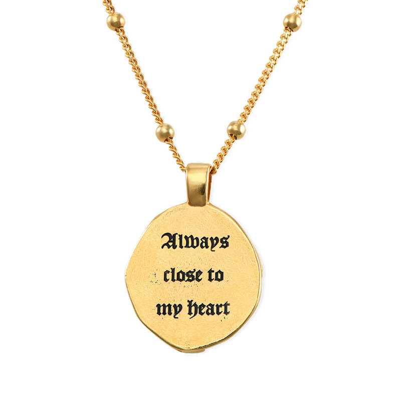 Jesus Christ Coin Necklace in Gold Plating - 4