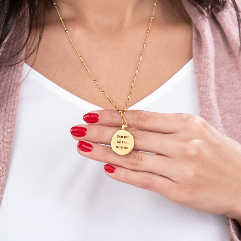 Jesus Christ & Mary Coin Necklace in Gold Plating - 2