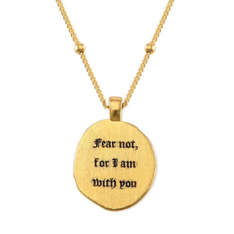 Jesus Christ & Mary Coin Necklace in Gold Plating - 5